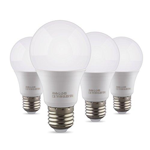 Albrillo E26 Bulbs 9W, 60 Watt Light Bulb Equivalent, Soft White 3000K, 4 Pack by Albrillo
