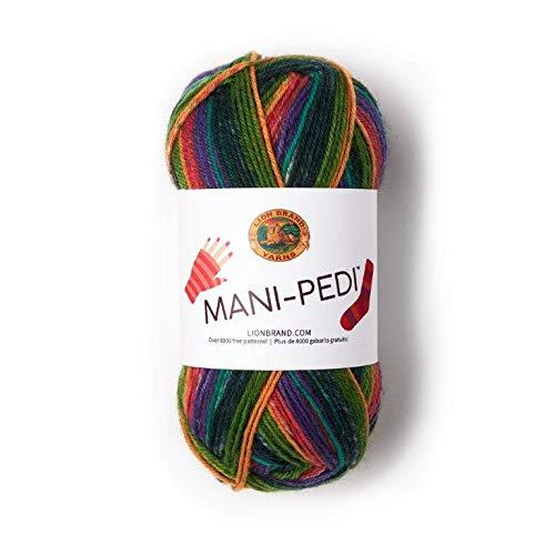 Lion Brand Yarn 245-600 Mani-Pedi Yarn, Crew (1 skein/ball)