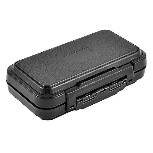 eDealMax Pche 16 Hameon appt Compartments Bote de Rangement Porte botier Noir