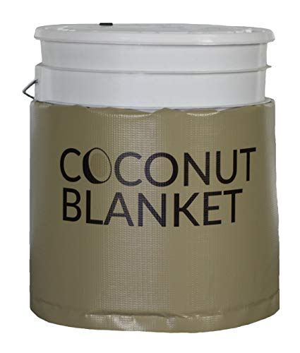 Powerblanket CN05 5 gal Coconut Oil Bucket Heating Blanket, Fixed Thermostat, 100 Degree F, 120V, 120W, 0.75