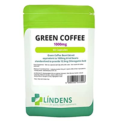 1000MG Green Coffee Bean Extract Diet Slimming Pills Weight 2-PACK 120 Capsules