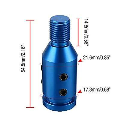 SpeeVech Shift knob Shifter Adapter Universal Shifters for Non Threaded BMW/VW 12x1.25mm Blue: Automotive
