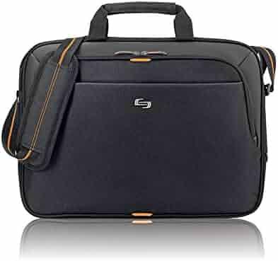Solo Ace 15.6 Inch Laptop Slim Brief, Black