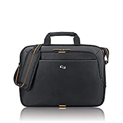 Solo Ace 15.6 Inch Laptop Slim Brief, Black