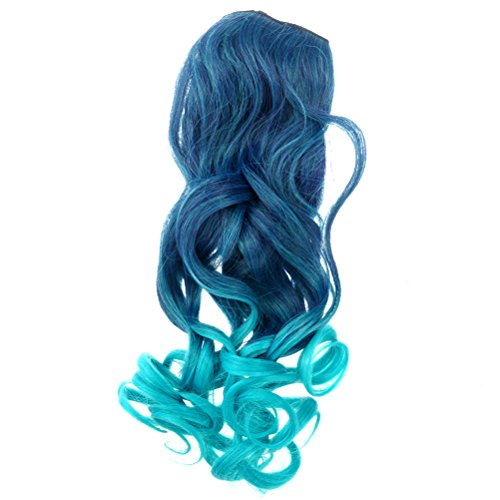 Unique Childrens Halloween Costumes Ideas - Tinksky Gradient Long Curly Wavy Clip-on Magic Wig Hairpiece Halloween Costumes