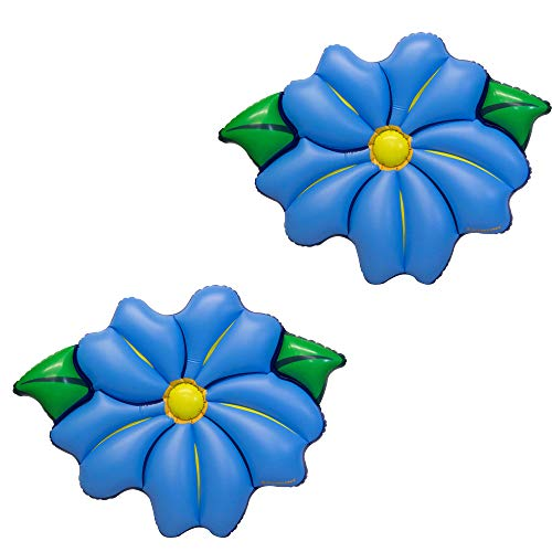Swimline Inflatable PVC Primrose Flower Relaxation Pool Float, Blue (2 Pack) -