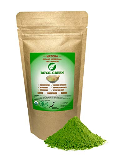 Organic Ceremonial Japanese Matcha Green Tea Powder USDA Certified, Rich in Vitamins, Antioxidants and More. Great for Matcha Latte, Smoothies, Ice Cream, Baking and Alternative Coffee 50g / 1.76oz (Best Green Tea Ice Cream)