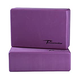 Timberbrother Set of 2 Yoga Blocks - Choose Your Color & Size