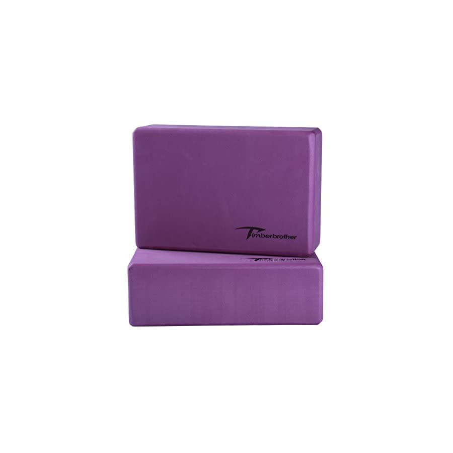 Timberbrother Yoga Block (1 PC or 2 PC) Choose Your Color & Size