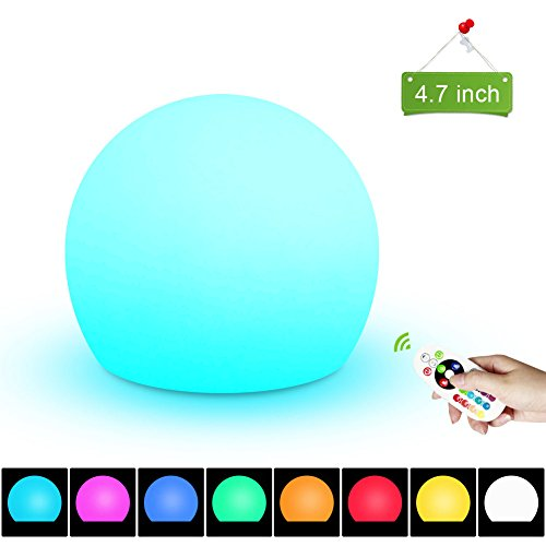 Night Light, 2nDLove Kid Night Lights with Remote Control, Beside Lamp for Children, LED Rechargeable Mood Light, 16 Color Change, 7 Level Brightness, Eye Care, Garden Decor for Indoor Outdoor - Cat Milky Eye