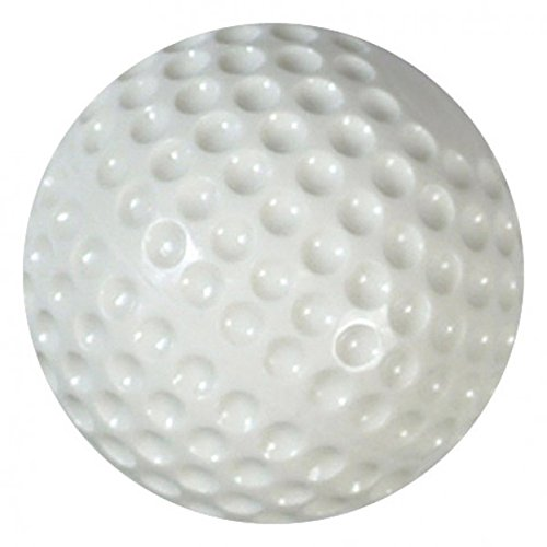 Hit Zone One Dozen White Plastic Dimpled Training Balls for Use Air Powered Batting Tee by Hit Zone