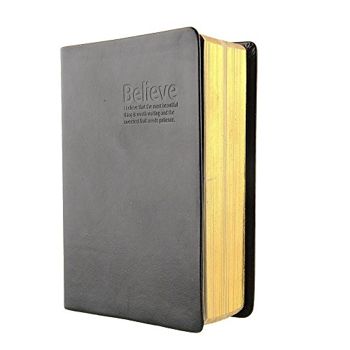 Antique Leather Cover Blank Pages Thick Notebook Notepad - 1