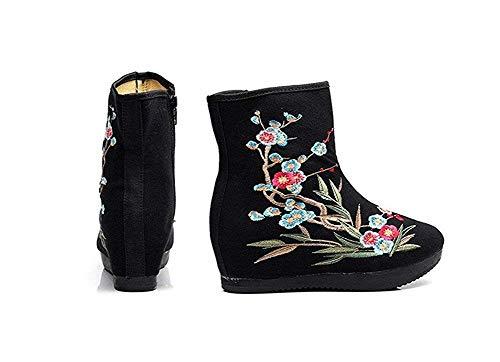 39 Zapatos Del Inferior Bordado En Gruesa Los Mujer Nacionales La Sed Eu Las 'patean De Señoras Parte Elegante Viento Cremallera zqwxU1FI