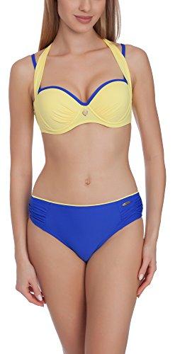 Aquarilla Bikini Conjunto Push Up para Mujer Lyon Aciano/Amarillo