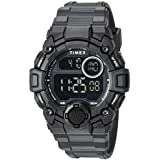 Timex Men's TW5M27400 A-Game DGTL 50mm Black Resin Strap Watch