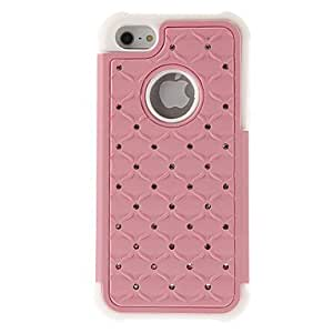 NEW Zircon Ornament 2 in 1 Silicone Back Case for iPhone 5/5S(Assorted Color) , Red