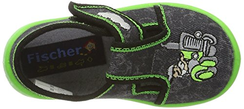 Fischer Mini - Zapatillas de casa Bebé-Niñas Grau (asphalt)