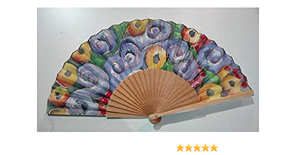 Abanico español/Abanico pintado a mano/Abanico Klimt/Abanico artesanal/ Abanico de madera: Amazon.es: Handmade