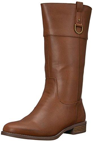 Polo Ralph Lauren Kids Girls' Mesa Fashion Boot, Chocolate Tumbled, 13.5 Medium US Little - Lauren Women Boots Ralph Polo