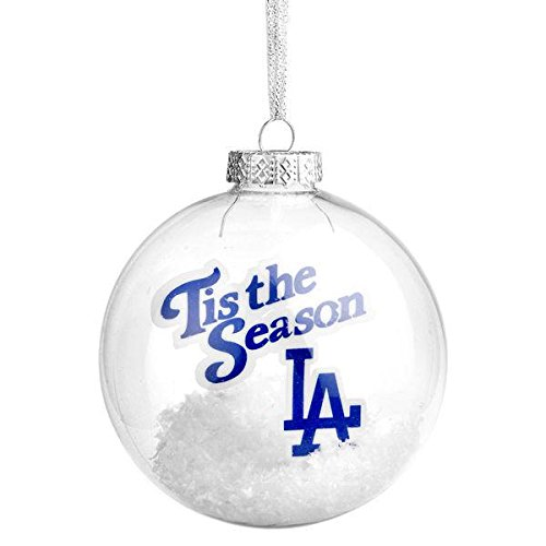 Los Angeles Dodgers Tis The Season Glass Ball Ornament
