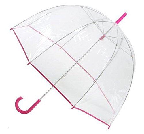 Totes Clear Bubble Umbrella Claret