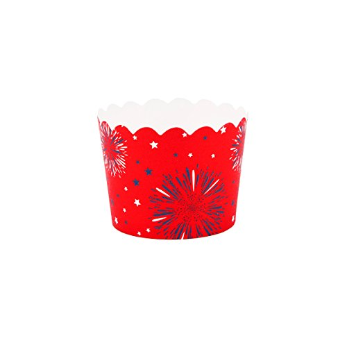 Simply Baked Small Paper Baking Cup 4th of July 25 Pack Disposable & Oven-Safe