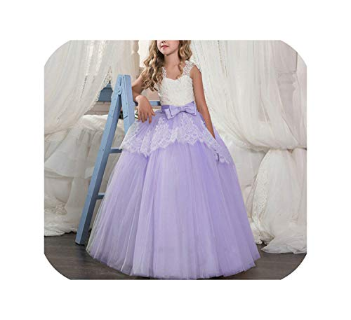 Flower Girl Long Gown for Princess Party Dress Children Formal Kids Dresses for Girls,As Photo6,10