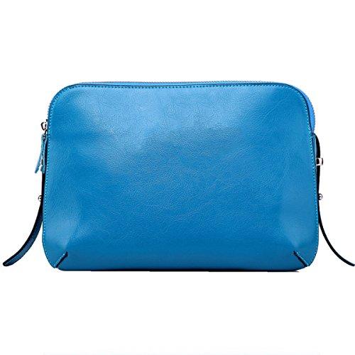 Yy.f Sra Hombro Paquete Diagonal Bolso De Cuero Hombro Paquete Diagonal Cuero Bandolera Diagonal Paquete MS Diagonal Multicolor Blue