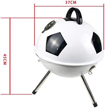 NANXCYR Barbecue GrillFootball en plein air Barbecue Barbecue Charbon de bois Barbecue portable Barbecue Fumeur Jardin Pique-nique Camping