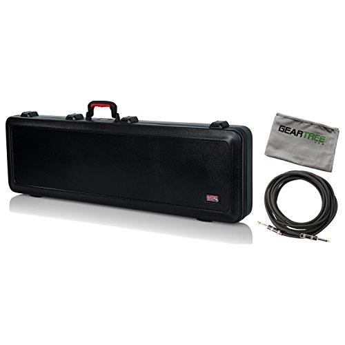 - Gator Cases GTSA-GTRBASS TSA ATA Molded Bass Guitar Case w/Polish Cloth and Cab