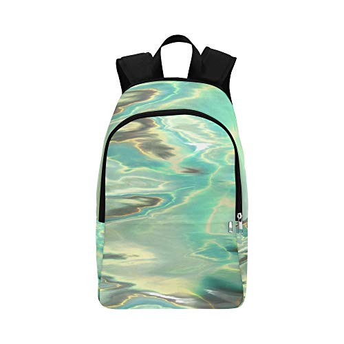 XINGCHENSS Water Liquid Waves Texture Nature Casual Daypack Travel Bag College School Backpack for Mens and Women
