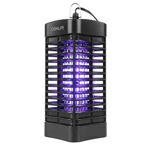 (COMLIFE Indoor Electronic Bug Zapper, Powerful Mosquito Killer Trap, Flying Insect Killer with 800V Grid 4W UV Light, Built-in Gnat Light Trap Suitable for Porch Home Office)