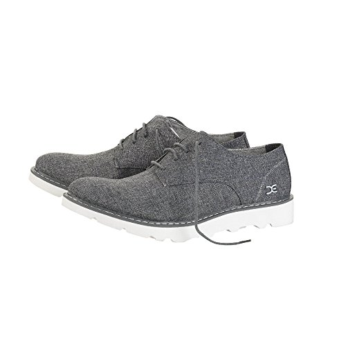 Grey Verona Mens Derby Linen Shoes Dude Shoe Fumo BR60wU
