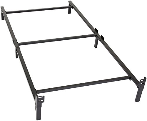 Amazon Basics 6-Leg Support Metal Bed Frame - Strong Support for Box Spring and Mattress Set - Twin Size Bed