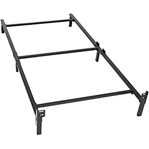 Amazon Basics 6-Leg Support Metal Bed Frame - Strong Support for Box Spring and Mattress Set - Tool-Free Easy Assembly - Twin Size Bed 6