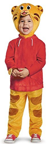 [Disguise Daniel Tiger's Neighborhood Daniel Tiger Deluxe Toddler Costume, Small/2T by Disguise] (Daniel Tiger Deluxe Costumes For Toddlers)