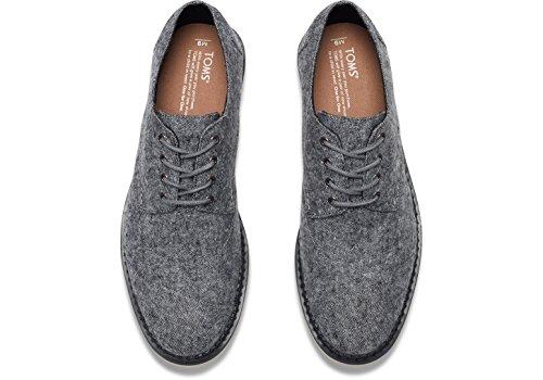 TOMS Mens Brogue Grey Slub Textile Oxford 7 D (M) YdFRwQ