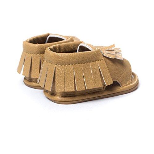 Bebé Prewalker Zapatos Auxma Zapatos del verano de la primavera de los niños de los bebés Sandalias de Moda Para 3-18 Mes Caqui