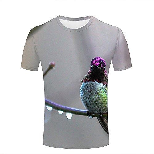 New Mens T-shirt Tree Branch - liangjinyan Couple T Shirts Bird Tree Branch Drop 3D Funny Tee Print XXL