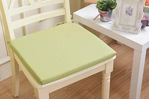 HoEOQeT Green Small Lattice Office Dining Chair Tavolo da Pranzo Pastorale e Cuscino per sedie Cuscino per sedie Cuscino in Spugna Cuscini semplici Quadrati ( Style : Green Solid Color )