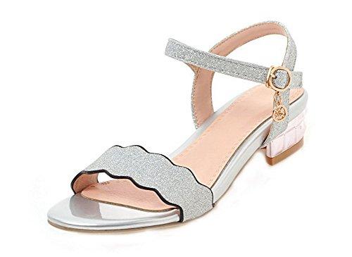 Women Heel Sandals tsmlg006002 Open Solid Argento Mini Dress Toe Aalardom d7Wxvd