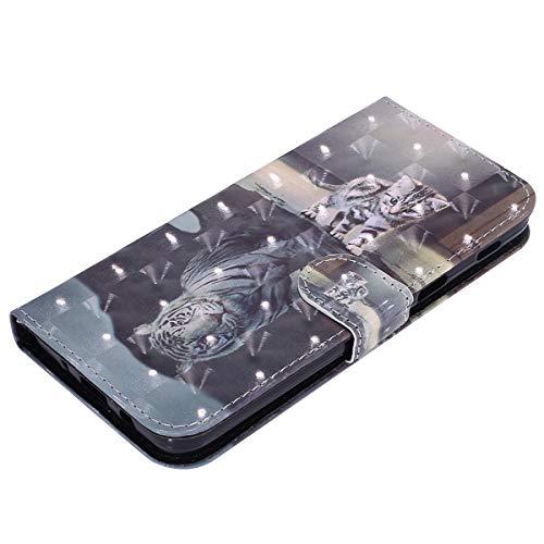2018 2018 Coque Etui Galaxy Magnétique Motif Housse avec Samsung Galaxy J3 Pochette de Galaxy Samsung Telephone de J3 J3 Coque Housse pour Protection Etui avec à Herbests Coque Chat Tigre Samsung 2018 Rabat Drag wYHq4B