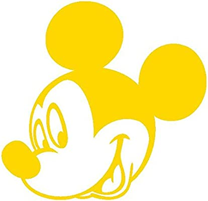 Mickey Mouse-3-Disney-Pegatinas Prespaziato color amarillo-20 cm ...