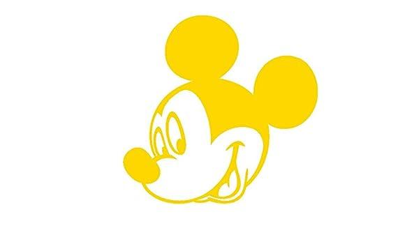Mickey Mouse-3-Disney-Pegatinas Prespaziato color amarillo-15 cm ...