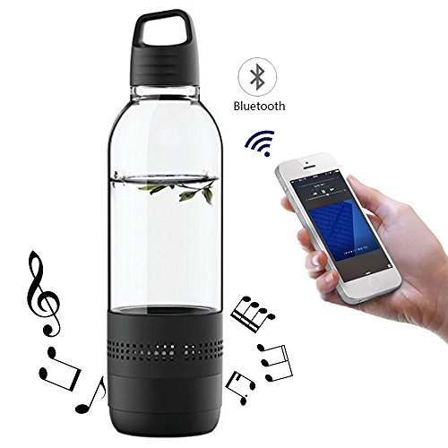 Wireless Bluetooth Speaker Bottle Outdoor Indoor Portable Leak Proof Music Drink Water Bottle Support TF Card For Traveling Camping Hiking Riding Jogging Running ()