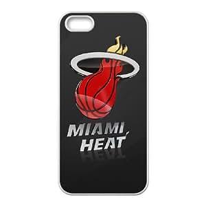 Miami Heat iPhone 5 5s Cell Phone Case White Q9256409