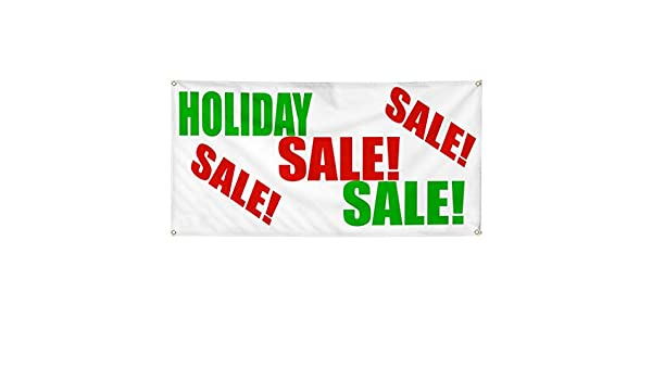 Vinyl Banner Multiple Sizes Sale 50/% Off Promotion Business Business Outdoor Weatherproof Industrial Yard Signs Red 4 Grommets 24x48Inches