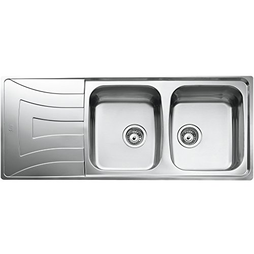 Teka novaservice el fregadero de la cocina grifo fregadero lavabo con dos platillos y fregadero, Universo 2C 1E CN MTX