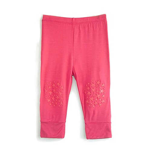 Go Little One Go Anti-Slip Bamboo Baby Crawling Leggings Pants - Helps Learning to Crawl on Slippery Floors Easier and Safer (Pink)