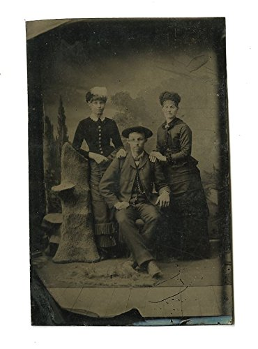 19th Century Fashion - Original 19th Century Tintype - Portrait Photograph
